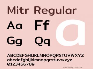 Mitr Regular Version 1.003图片样张