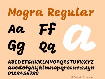 Mogra Regular Version 1.002图片样张