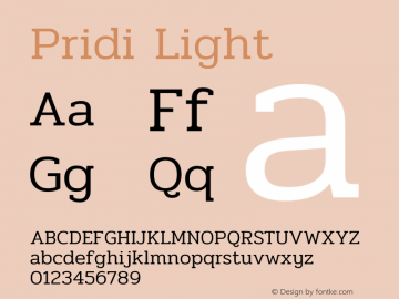 Pridi Light Version 1.003图片样张