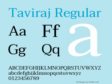 Taviraj Regular Version 1.001图片样张