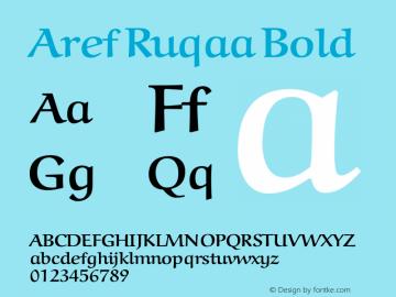 Aref Ruqaa Bold Version 1.0g based on 0.7图片样张
