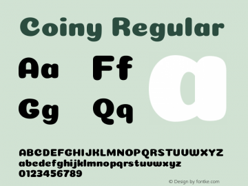 Coiny Regular Version 001.001图片样张
