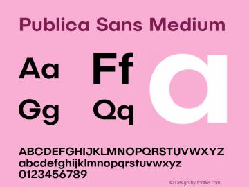 PublicaSans-Medium Version 1.000;PS 001.000;hotconv 1.0.88;makeotf.lib2.5.64775图片样张
