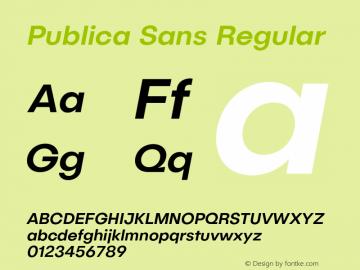 PublicaSans-MediumItalic Version 1.000;PS 001.000;hotconv 1.0.88;makeotf.lib2.5.64775图片样张