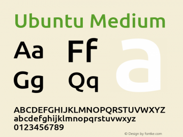 Ubuntu Medium 0.83 Font Sample