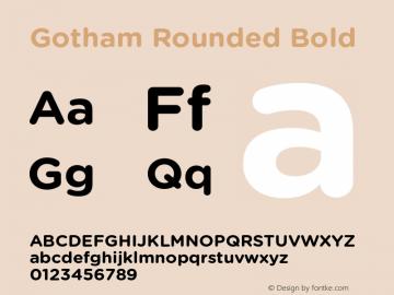 Gotham Rounded Font,GothamRounded-Bold Font,Gotham Rounded