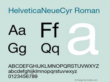 HelveticaNeueCyr Roman 001.000图片样张