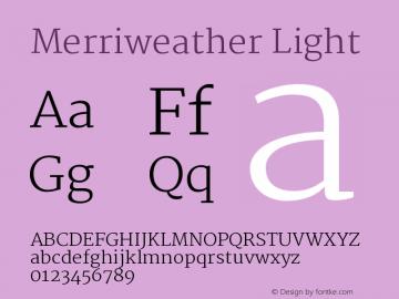 Merriweather Light Version 1.003图片样张