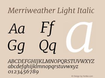 Merriweather Light Italic Version 1.001图片样张
