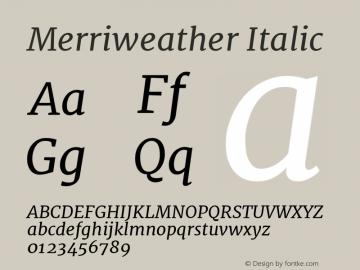Merriweather Italic Version 1.001图片样张