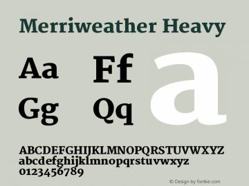 Merriweather Heavy Version 1.003图片样张