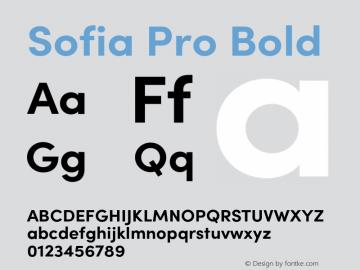 SofiaPro-Bold Version 3.000;PS 003.000;hotconv 1.0.88;makeotf.lib2.5.64775图片样张