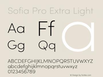 SofiaProExtraLight Version 3.000;PS 003.000;hotconv 1.0.88;makeotf.lib2.5.64775图片样张