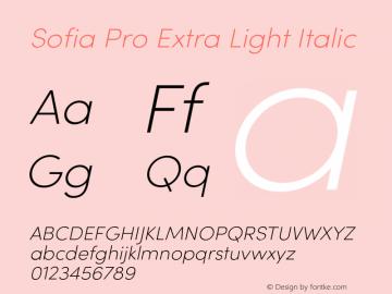 SofiaProExtraLight-Italic Version 3.000;PS 003.000;hotconv 1.0.88;makeotf.lib2.5.64775图片样张