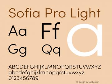 SofiaProLight Version 3.000;PS 003.000;hotconv 1.0.88;makeotf.lib2.5.64775图片样张