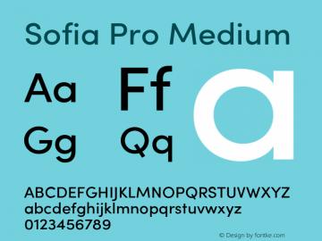 SofiaProMedium Version 3.000;PS 003.000;hotconv 1.0.88;makeotf.lib2.5.64775图片样张