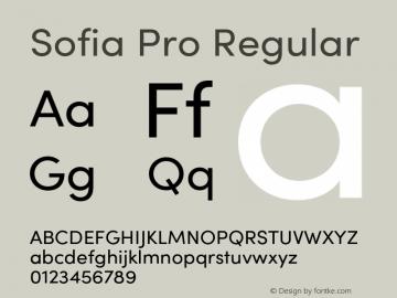 SofiaProRegular Version 3.000;PS 003.000;hotconv 1.0.88;makeotf.lib2.5.64775图片样张