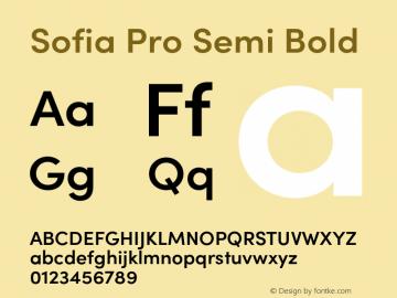 SofiaProSemiBold Version 3.000;PS 003.000;hotconv 1.0.88;makeotf.lib2.5.64775图片样张