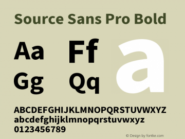 Source Sans Pro Bold Version 2.010;PS 2.0;hotconv 1.0.78;makeotf.lib2.5.61930图片样张