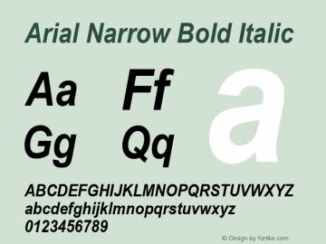 Arial Narrow Bold Italic Version 2.20图片样张