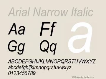 Arial Narrow Italic Version 2.20图片样张
