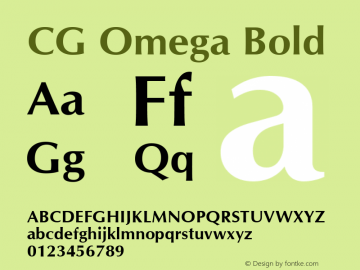 CG Omega Bold Version 1.3 (Hewlett-Packard)图片样张