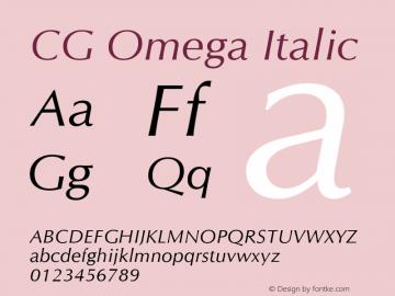 CG Omega Italic Version 1.3 (Hewlett-Packard)图片样张