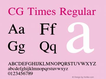 CG Times Version 1.02a图片样张