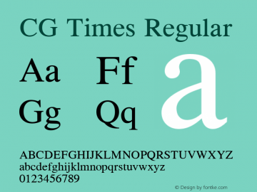 CG Times Version 1.3 (Hewlett-Packard)图片样张