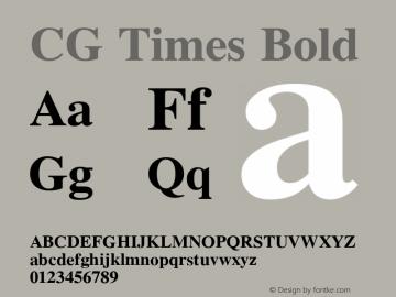 CG Times Bold Version 1.3 (Hewlett-Packard)图片样张