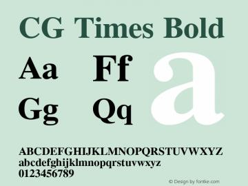 CG Times Bold Version 1.02a图片样张
