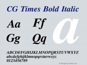 CG Times Bold Italic Version 1.02a图片样张