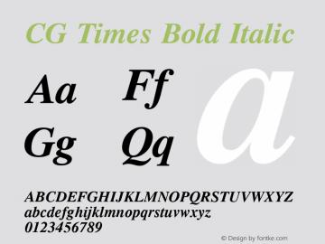 CG Times Bold Italic Version 1.3 (Hewlett-Packard)图片样张