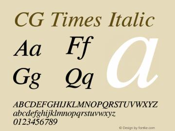 CG Times Italic Version 1.3 (Hewlett-Packard)图片样张