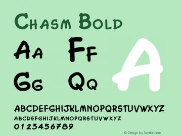 Chasm Bold Altsys Fontographer 4.1 2/2/95图片样张