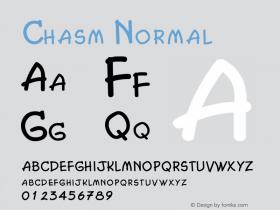 Chasm Normal Altsys Fontographer 4.1 2/2/95图片样张