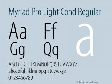 Myriad Pro Light Cond Font,Myriad Pro Light Condensed Font