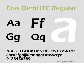 Eras Demi ITC Version 1.00图片样张
