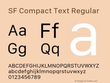 SF Compact Text Regular 11.0d10e2图片样张