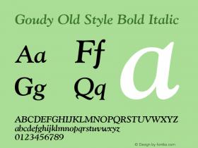 Goudy Old Style Bold Italic Version 1.3 (Hewlett-Packard)图片样张