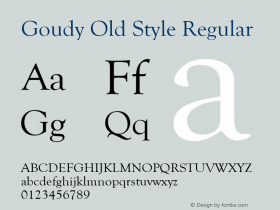 Goudy Old Style Version 1.50图片样张