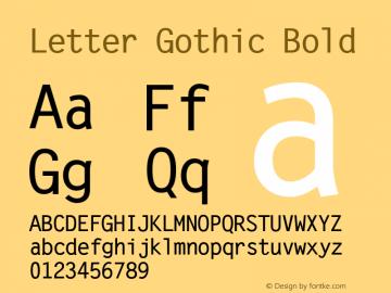 Letter Gothic Bold Version 1.3 (Hewlett-Packard)图片样张