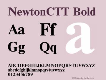 NewtonCTT Bold TrueType Maker version 1.00.03图片样张