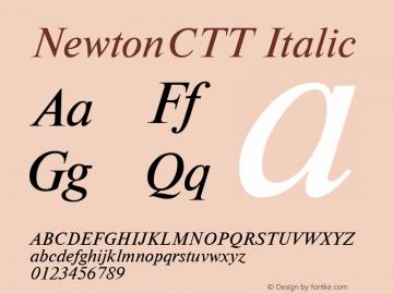 NewtonCTT Italic TrueType Maker version 1.00.03图片样张