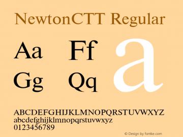 NewtonCTT TrueType Maker version 1.00.03图片样张