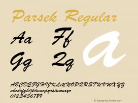 Parsek Converted from H:\PARSEK.TF1 by ALLTYPE图片样张