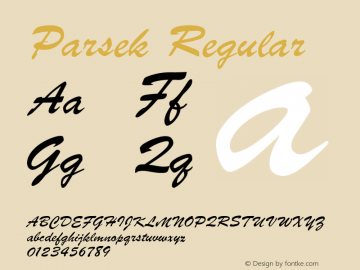 Parsek Converted from H:\PARSEK.TF1 by ALLTYPE图片样张