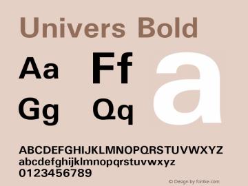 Univers Bold Version 1.3 (Hewlett-Packard) Font Sample