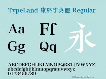 TypeLand 康熙字典體 Regular 图片样张