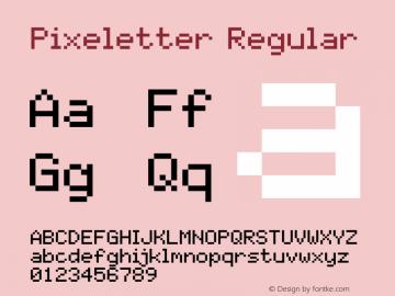 Pixeletter Version 1.4图片样张